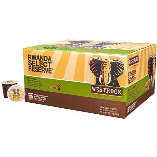 (Westrock Coffee Company Rwanda Select Reserve, Single Serve Coffee Pod, Dark Roast, 80 Count)