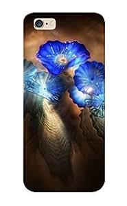 For Iphone 6 Plus Fashion Design Blue Glass Flowers Case-GWwlRZy259SPnKz