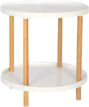 Ynn Table Basse En Bois Massif Table D Appoint à 2 Niveaux