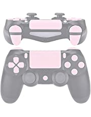 eXtremeRate Replacement D-pad R1 L1 R2 L2 Triggers Touchpad Action Home Share Options Buttons, Sakura Pink Full Set Buttons Repair Kits with Tool for PlayStation 4 PS4 Slim PS4 Pro CUH-ZCT2 Controller