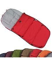 BAMBINIWERLT voetenzak wintervoetenzak voor BUGABOO kinderwagen, universeel, zitkussen, met fleece (Mod-K) rood