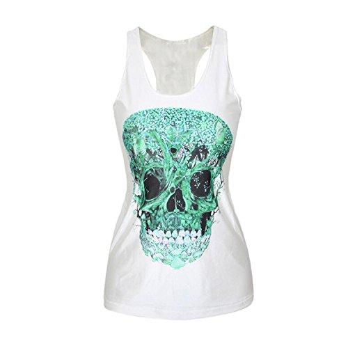 Luck Wang Women's Sexy HD Printed Sleeveless T Shirt Tank Vest Tops(11#)