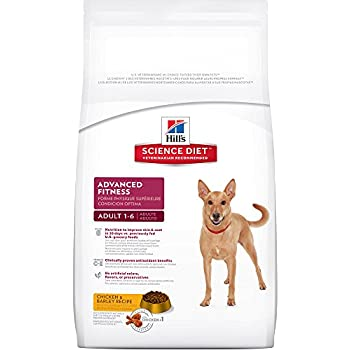 Hill's Science Diet Adult Advanced Fitness Chicken & Barley Recipe Dry Dog Food, 5-Pound Bag