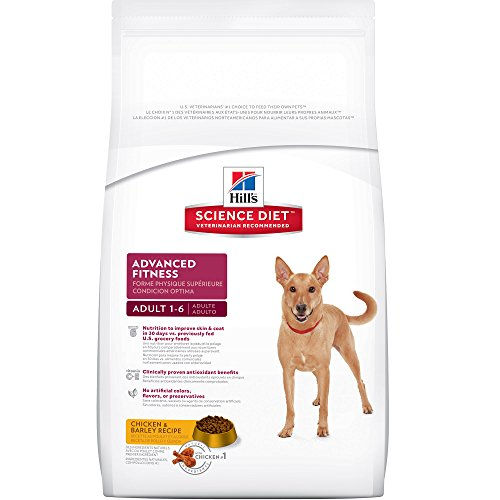 Hill's Science Diet Adult Advanced Fitness Dog Food, Chicken & Barley Recipe...