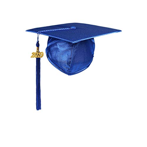 8a61d3c76a YesGraduation Unisex Adult s Matte Graduation Cap With Tassel 2019 for High  School and College (Royal