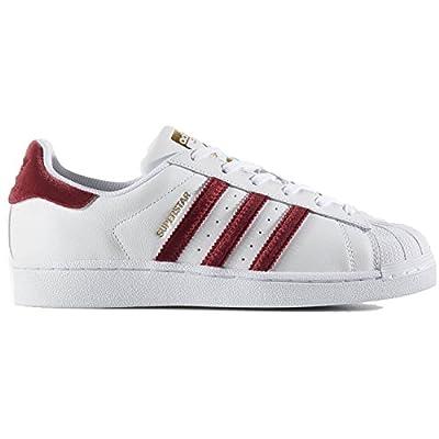 adidas Superstar W Womens Fashion-Sneakers AC7162_9 - Footwear White/Burgundy/Footwear White