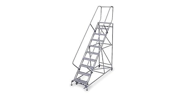 Cotterman – 2610R2632A6E24B4W5C1P6 – Escalera rodante de 10 pasos, peldaños perforados, 130 altura total, 800 libras Capacidad de carga: Amazon.es: Amazon.es