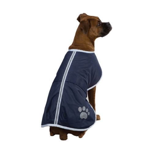 - Zack & Zoey Polyester Nor'easter Dog Blanket Coat, XX-Small, Navy
