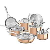 KitchenAid KC2PS12CP 12-Piece Tri-Ply Copper Set
