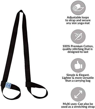 Yoga Mat Sling Carrier Shoulder Carry Strap Belt Exercise Stretch Adjustable Jq