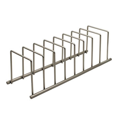 (Spectrum Diversified Euro Lid Organizer, Plate Rack, Lid Holder, Square, Satin Nickel)
