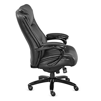 Black Top Grain Leather Big and Tall Executive Chair – NBF Signature Series Ultra Collection