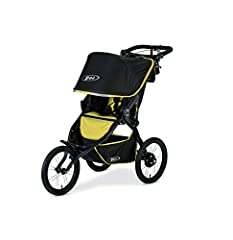 """Lean and mean, the BOB Blaze Performance Stroller is your ultimate training partner. Its large fixed front wheel offers unmatched stability and the 16"""" semi slick air filled tires on lightweight, aluminum alloy wheels mean this stroller can r..."""