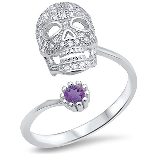 Round Amethyst Fashion Ring - 2