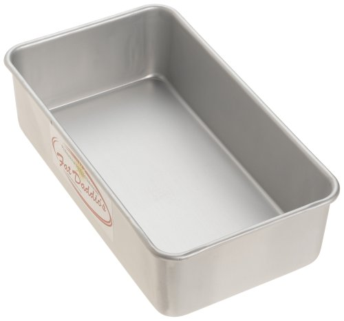 Anodized Aluminum Bread Pan Single, 9 Inches by 5 Inches by 2 1/2 Inches ()