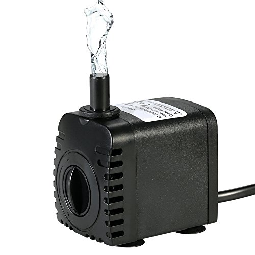 Bomba de Agua Sumergible,Decdeal 600L/H 8W Water Strider - con 2 Boquillas AC220-240V para Acuario Fuentes Estanque Sistemas Hidroponicos