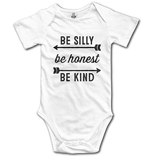 Ghhpws Be Silly Be Honest Be Kind Baby's Onesie Unisex Short Sleeve Comfortable Bodysuit Outfits White -