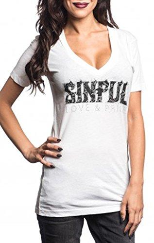 AFFLICTION SINFUL Damen-Shirt Chantilly Wing