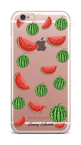 Watermelon red fruit fruity plastic transparent see through case / cover for Apple Iphone design made by LuxuryHunters ® (Iphone 7)