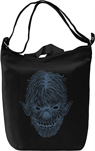 Werewolf Borsa Giornaliera Canvas Canvas Day Bag| 100% Premium Cotton Canvas| DTG Printing|