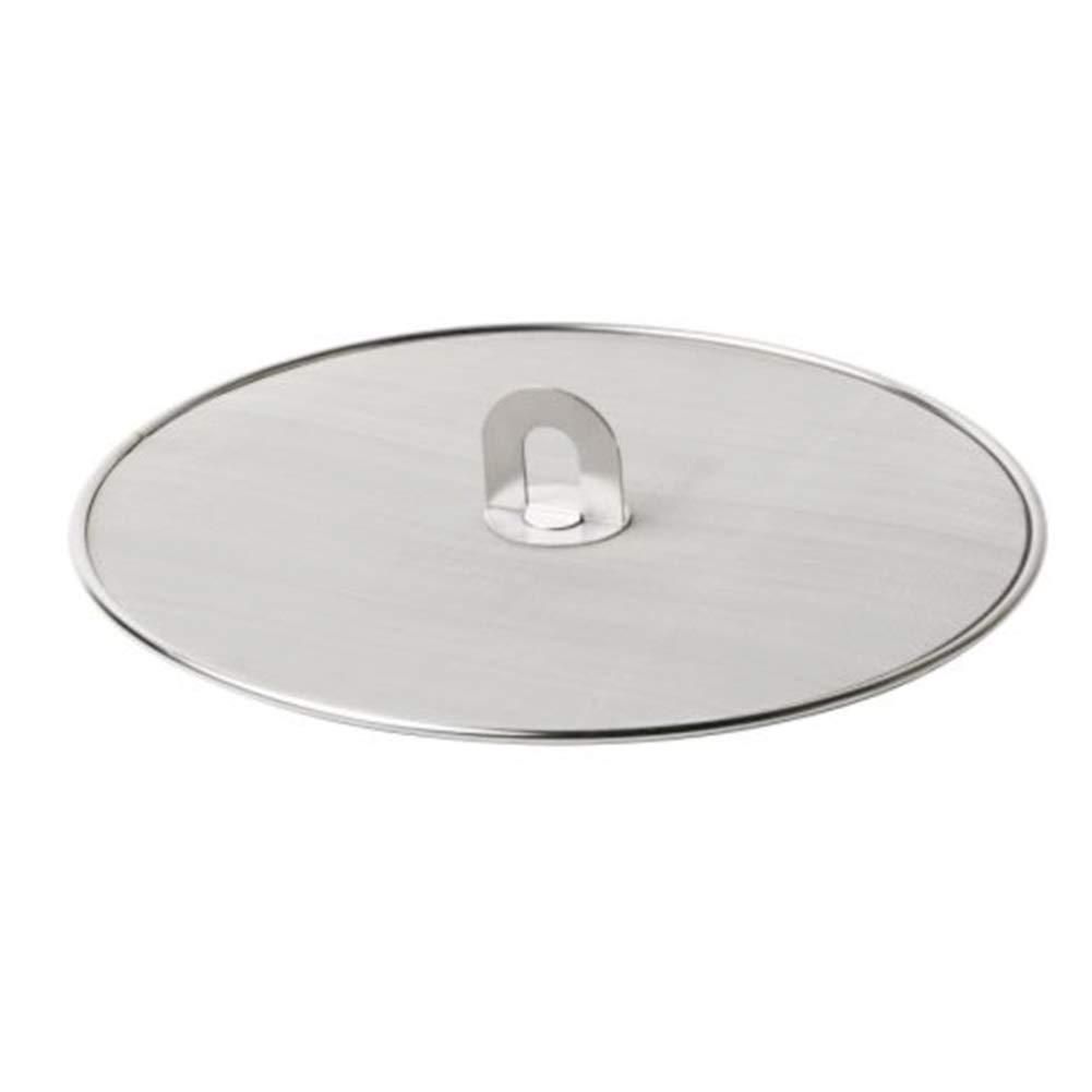praktische Edelstahl-Spritzschutzgitter Topfdeckel mit klappbarem Griff /Ölbest/ändiger Spritzdeckel Haushaltsbedarf 25 cm Wie abgebildet