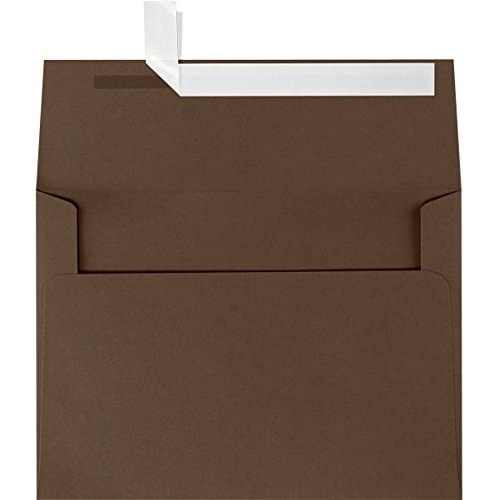 Top A6 Invitation Envelopes (4 3/4 x 6 1/2) - Chocolate Brown (50 Qty.) for sale