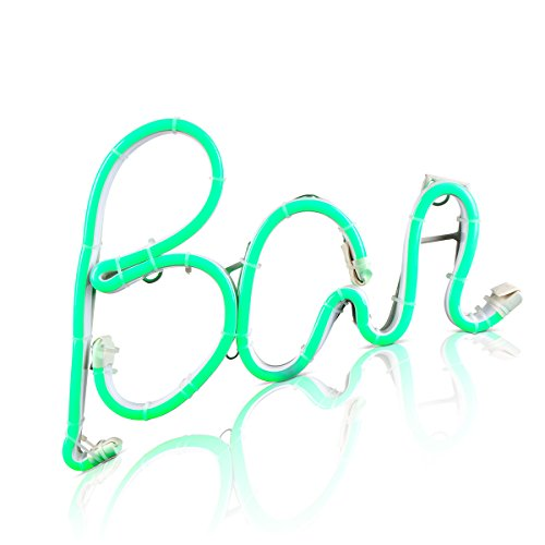 The Gerson Company 93403 Cursive Style Neon LED Lighted BAR Sign - Bar Outdoor Neon Sign