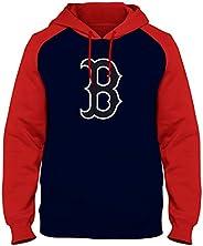 Boston Red Sox Express Twill Logo Raglan Hoodie - Navy/Red