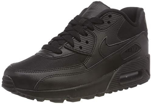 Nike Womens Air Max 90 Running Sneakers Black/Black-Black 325213-057 (7.5 B(M) US)