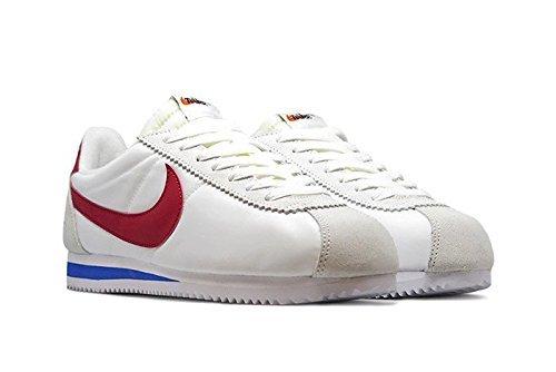 Nike Men Classic Cortez Nylon AW QS (white/varsity red-varsity royal) with Bag - Size 11.5 M US by Nike (Image #3)