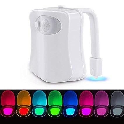 Luz de WC Iluminación Nocturna con Sensor de Movimiente VADIV Funciona con Pilas (no incluidas