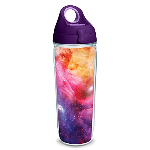Tervis 1231320 Celestial Tumbler with Wrap and Purple Lid 24oz Water Bottle, Clear (Tervis Bottle Water)