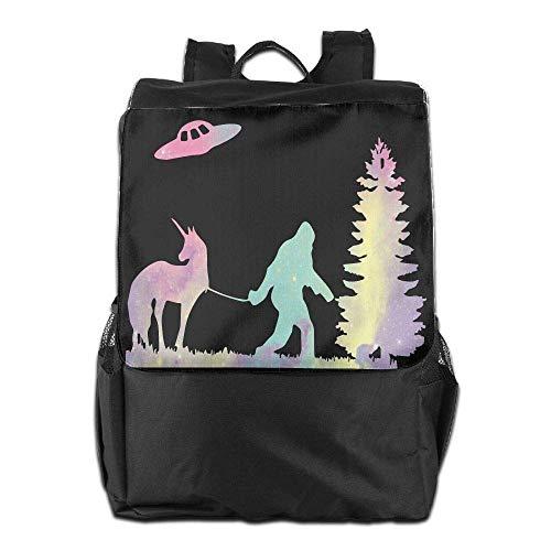 Men College Women Travel Funny Bookbag School Ufo Laptop Bigfoot Backpack 70UwtnS