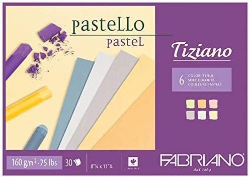 Bloc de dibujo Tiziano pegado A4 160 g 30 colores Tenui