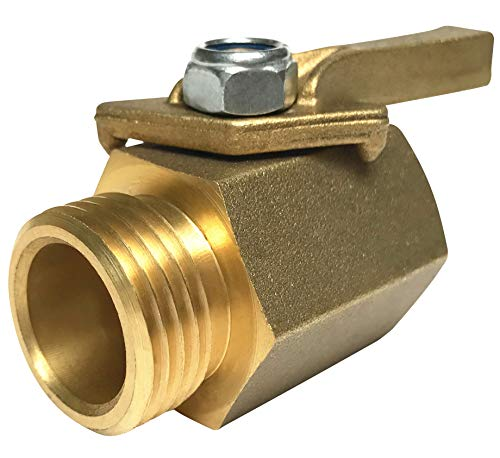 (Happy Tree Super Heavy Duty Solid Brass Shut Off Ball Valve for Standard 3/4