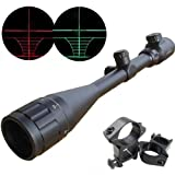 New Optics Hunting Rifle Scope 6-24×50 AOE Red and Green Illuminated Crosshair Gun Scopes With Free Mounts, Outdoor Stuffs