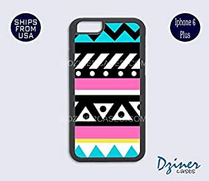 iPhone 6 Plus Case - Turquoise Pink Cute Aztec iPhone Cover