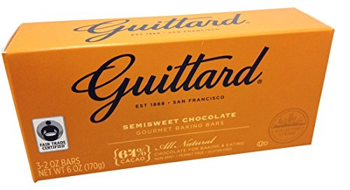 Guittard, 64% All Natural Cocoa Baking Bars, Semi Sweet, 6oz Package (Pack of 4) ()