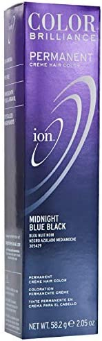 Ion color Brilliance Master Colorist Series Permanent Creme Hair Color Midnight Blue Black by Ion