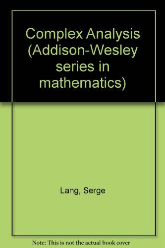 Complex analysis (Addison-Wesley series in mathematics)