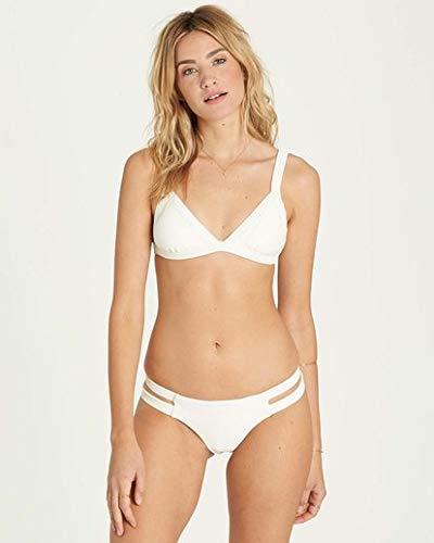 Top Sexy Swimwear Tri (Billabong Women's Line Up Fixed Tri Bikini Top, Seashell, M)