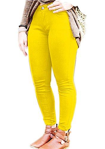 noir Vanilla Inc taille Jeans Femme Citron unique xZSZtwq