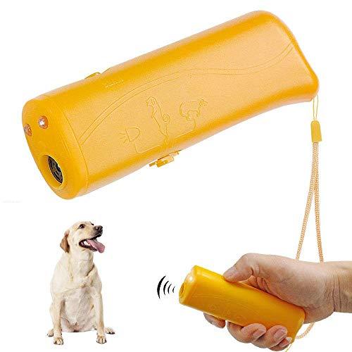 Inoosky Anti Barking Handheld 3 in 1 Pet LED Ultrasonic Dog Trainer Device - Dog Deterrent/Training Tool/Stop Barking