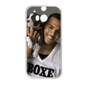 Chris Brown HTC One M8 Cell Phone Case White V6R3EL