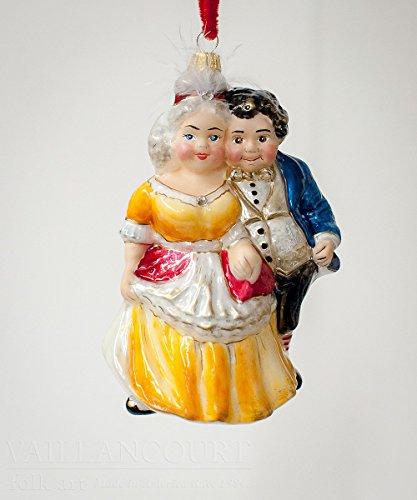 - Vaillancourt Mr. & Mrs. Fezziwig OR15703 Glass Christmas Ornament Gift Box