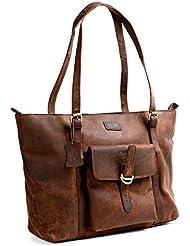 Cuero 16 Brown Leather Womens Bag/handbag/purse/shopping Tote Bag