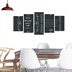 UHOO Modern PaintingsVector Template of Greeting Card with lace Frame. Home Furnishing Decorative Background Wall Mural Painting