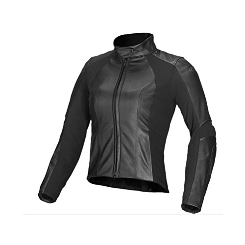 Alpinestars Stella Vika Leather Womens Jacket, Gender: Womens, Primary Color: Black, Size: 42, Apparel Material: Leather, Distinct Name: Black 3115514-10-42
