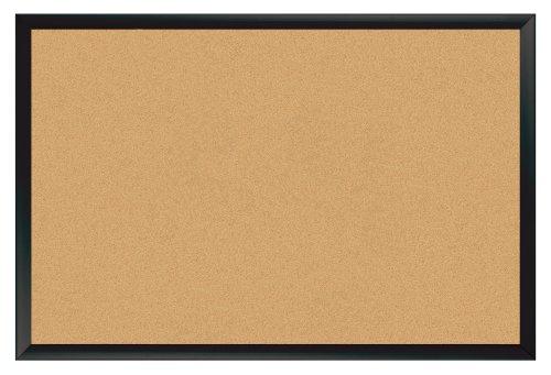 Board Dudes 24-Inch x 36-Inch Black Aluminum Framed Cork Board (CYF94)