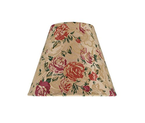 Aspen Creative 32003 Small Hardback Empire Shape Chandelier Clip-On Lamp Shade (1 Pack), Transitional Design in Floral Print, 6